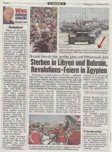 Kronen Zeitung, Samstag, 19. Februar 2011; S.4